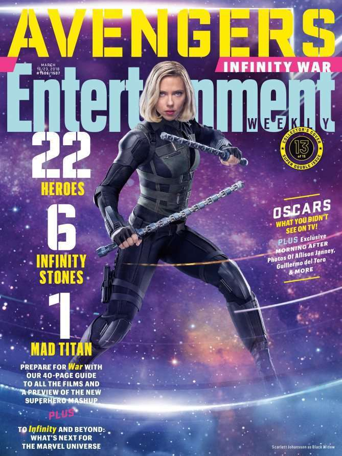 EWAvengersIW BlackWidow Entertainment Weekly   Avengers Infinity War Covers