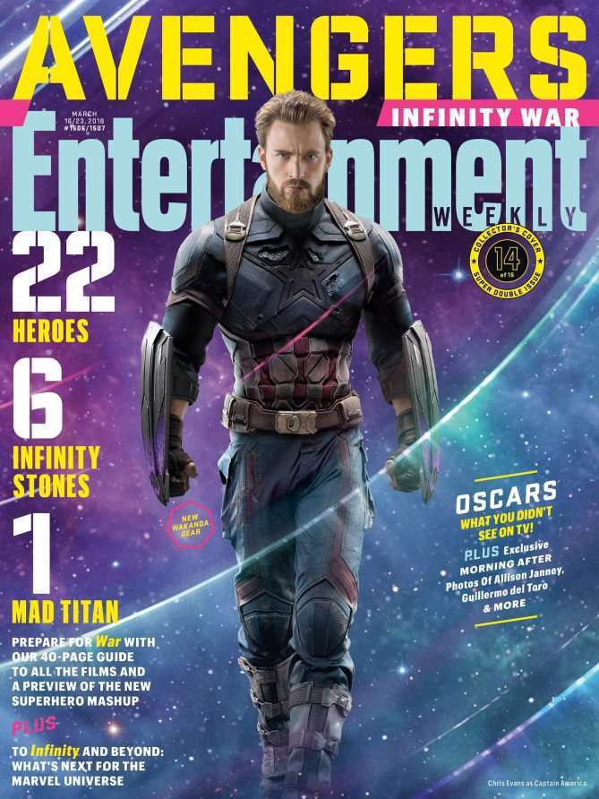EWAvengersIW CapAm Entertainment Weekly   Avengers Infinity War Covers