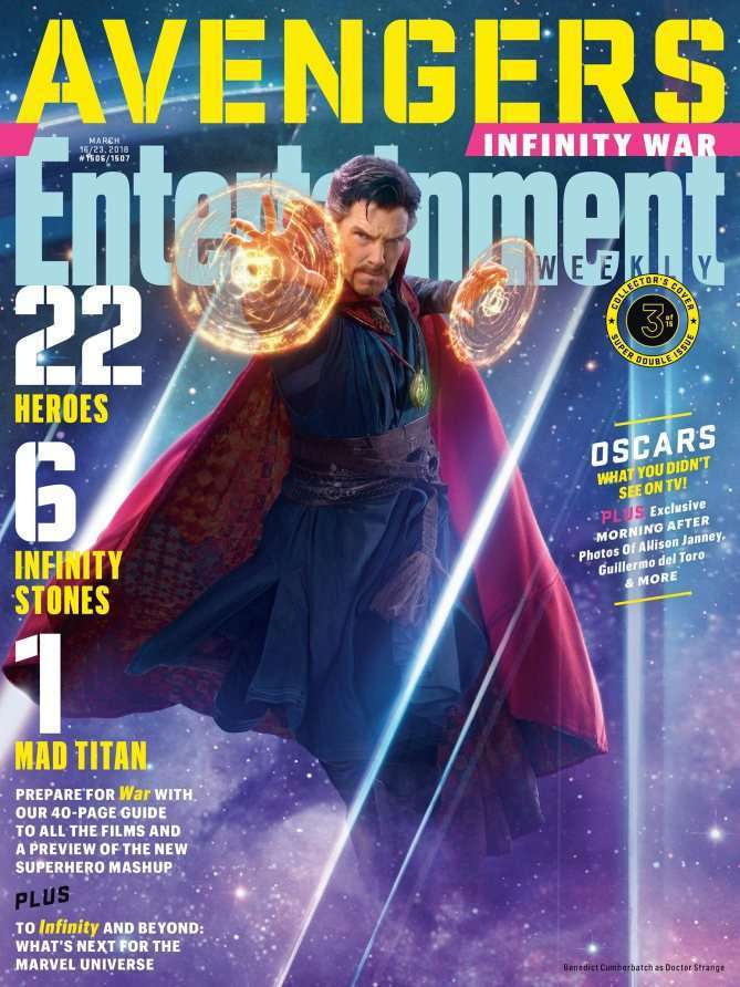 EWAvengersIW DrStrange Entertainment Weekly   Avengers Infinity War Covers