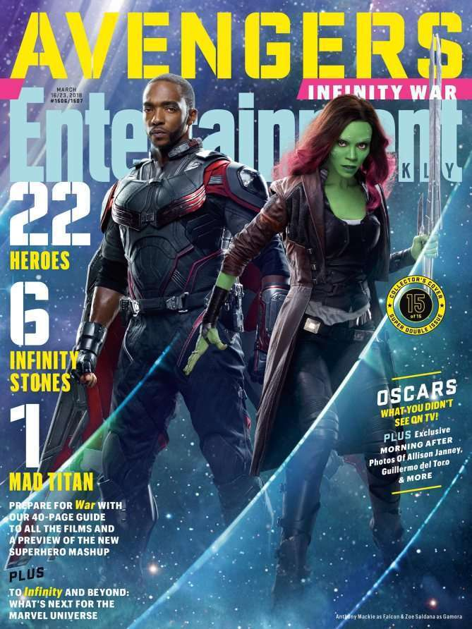 EWAvengersIW FalconGam Entertainment Weekly   Avengers Infinity War Covers