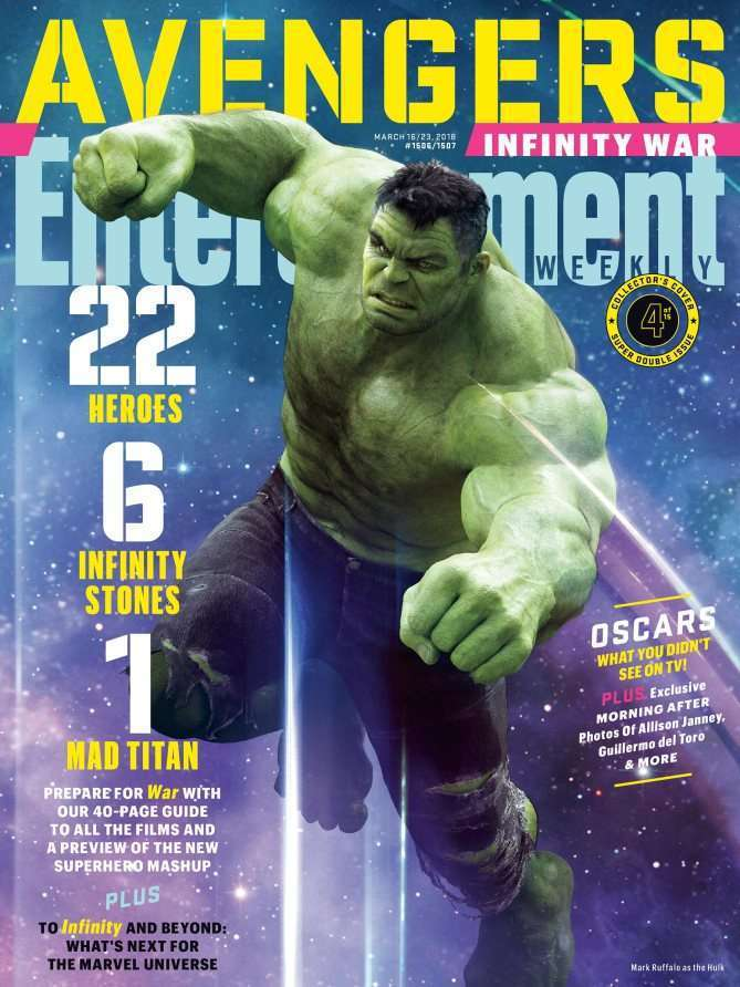 EWAvengersIW Hulk Entertainment Weekly   Avengers Infinity War Covers