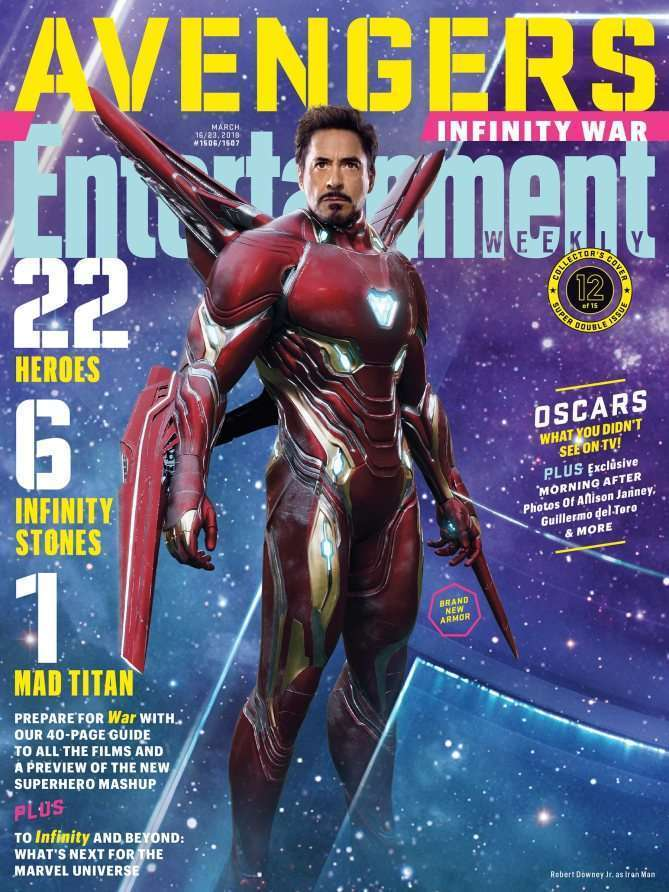EWAvengersIW IronMan Entertainment Weekly   Avengers Infinity War Covers