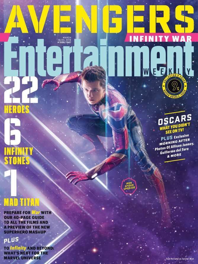 EWAvengersIW Spiderman Entertainment Weekly   Avengers Infinity War Covers