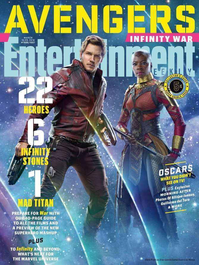 EWAvengersIW Starlord Entertainment Weekly   Avengers Infinity War Covers