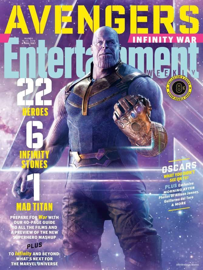 EWAvengersIW Thanos Entertainment Weekly   Avengers Infinity War Covers