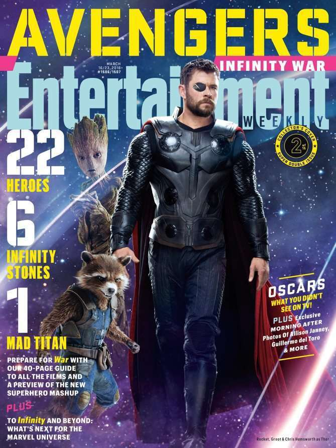 EWAvengersIW ThorRocketGroot Entertainment Weekly   Avengers Infinity War Covers