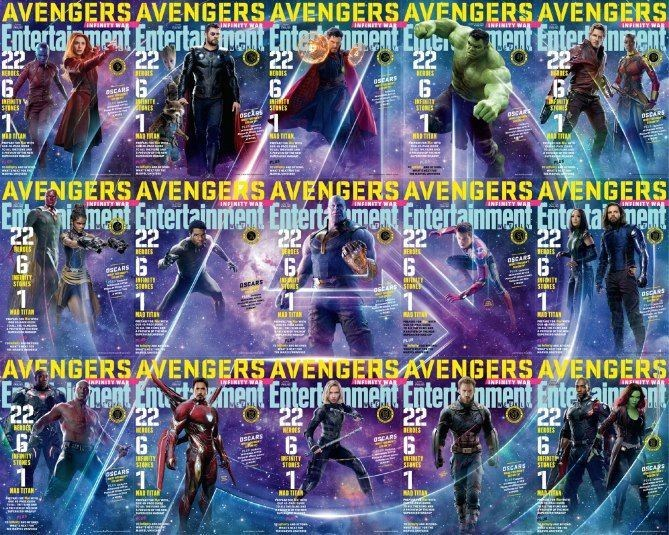 EWAvengersIW Total Entertainment Weekly   Avengers Infinity War Covers