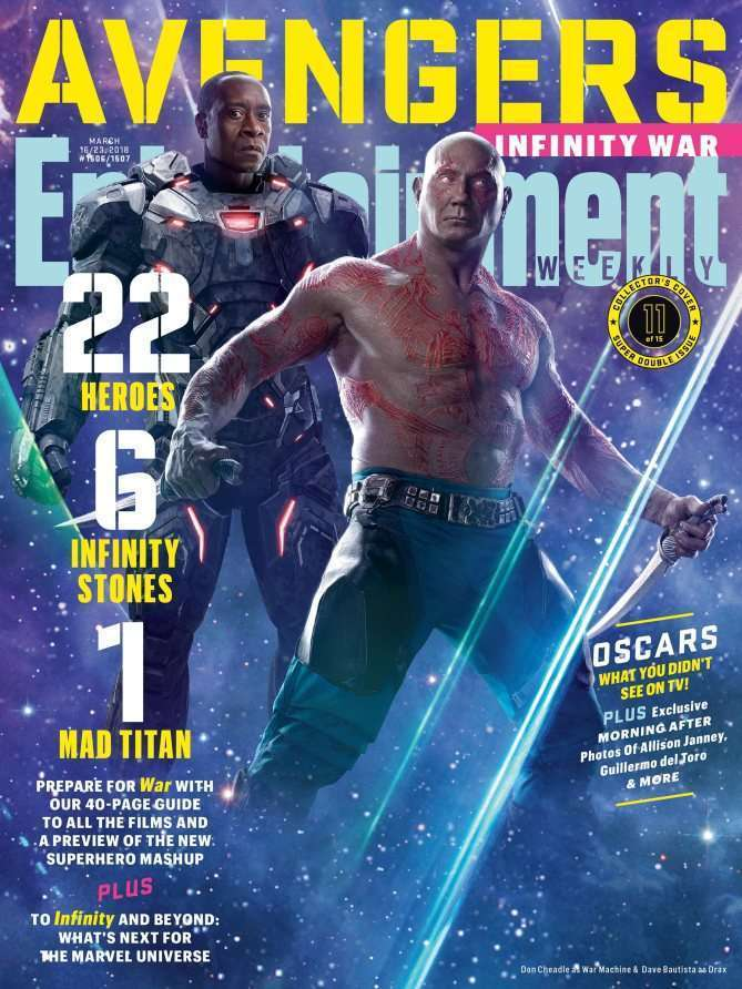 EWAvengersIW WarMachineDrax Entertainment Weekly   Avengers Infinity War Covers
