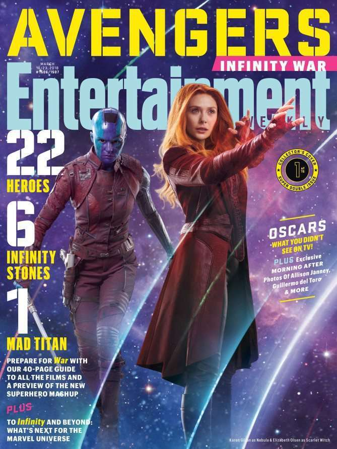 EWAvengersIW nebulaScarlet Entertainment Weekly   Avengers Infinity War Covers