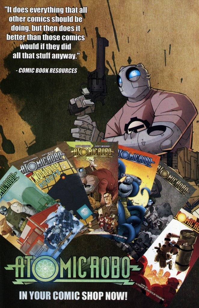 Atomic Robo in your comic shop now