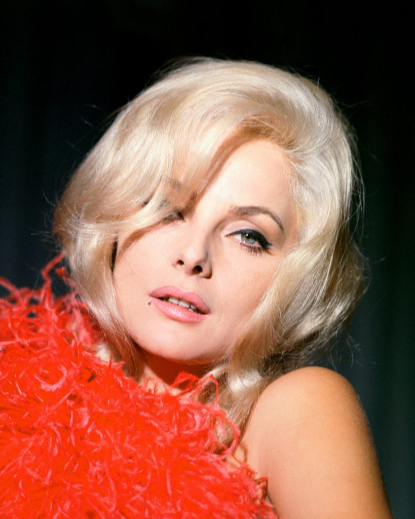 Virna Lisi with red scarf