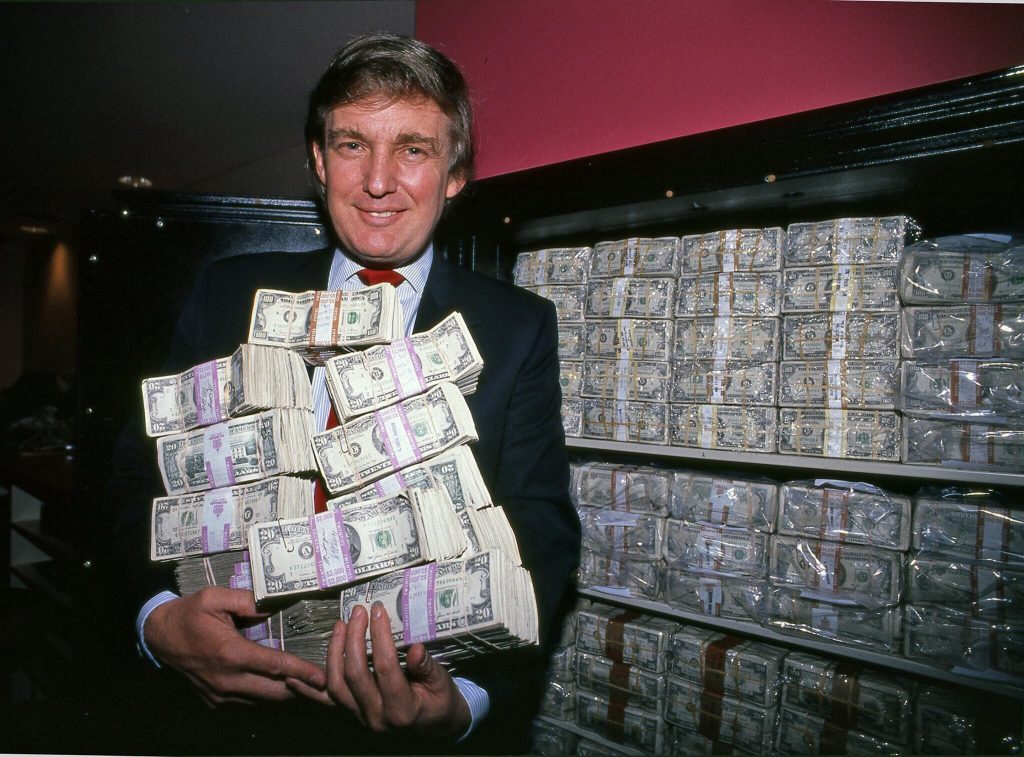 Donald Trump with someone else's money