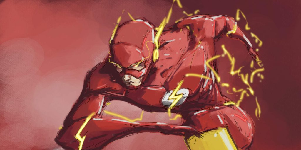 The flash in 4k 1024x512 The flash in 4k