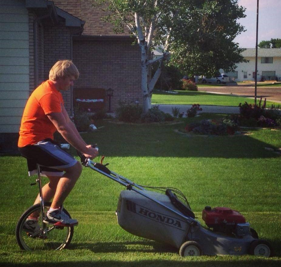 unicycle grass cutter