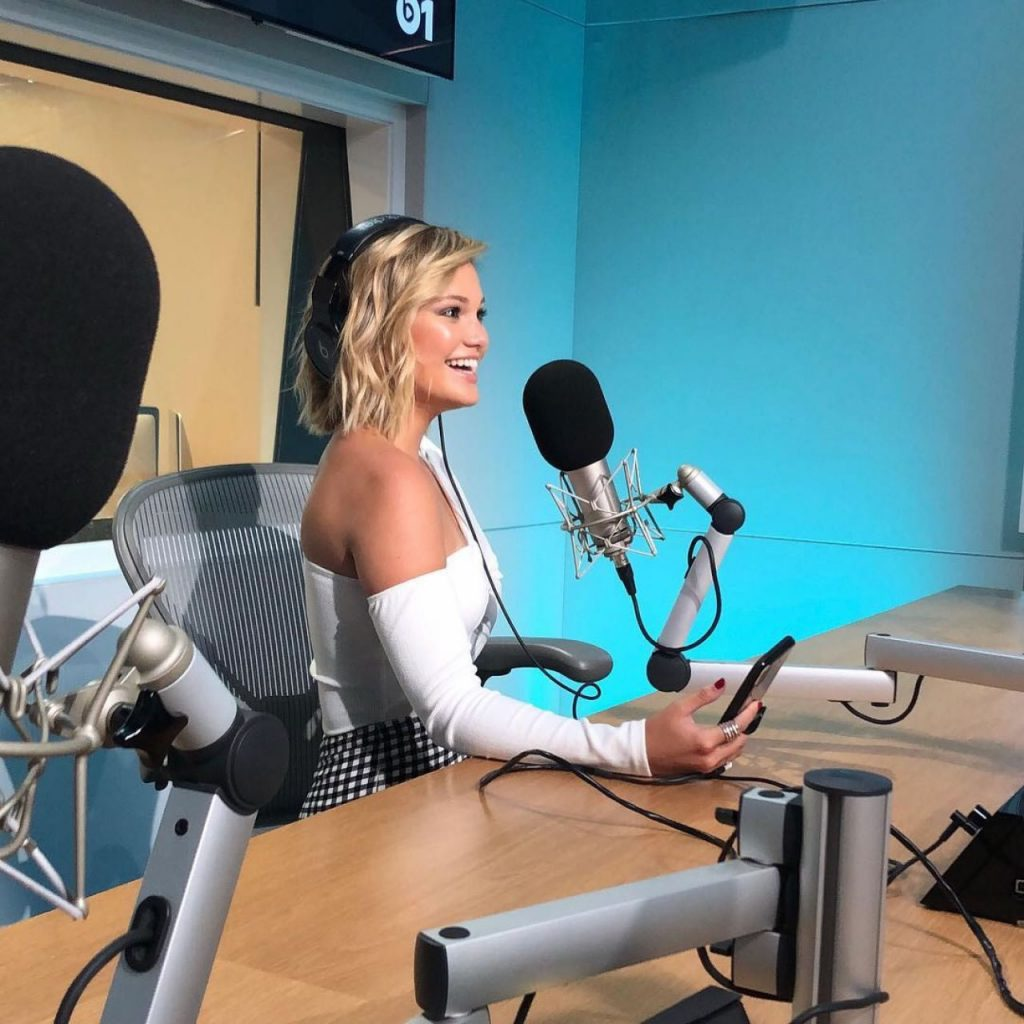 Olivia Holt in the studio