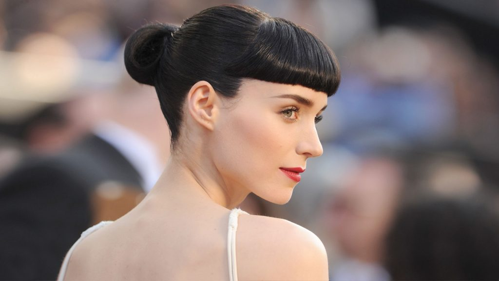 Rooney Mara with her hair up