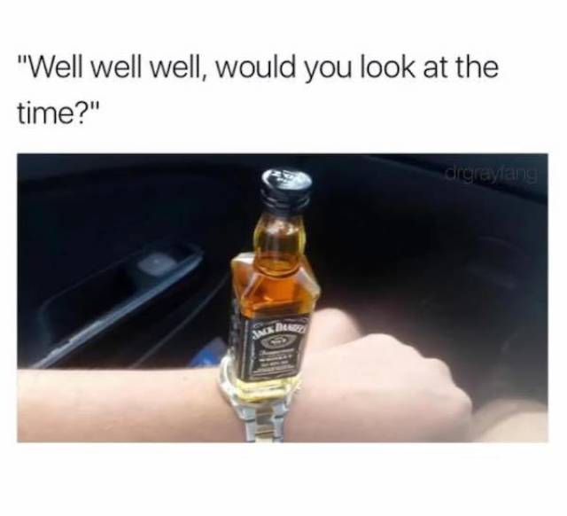 look at the time