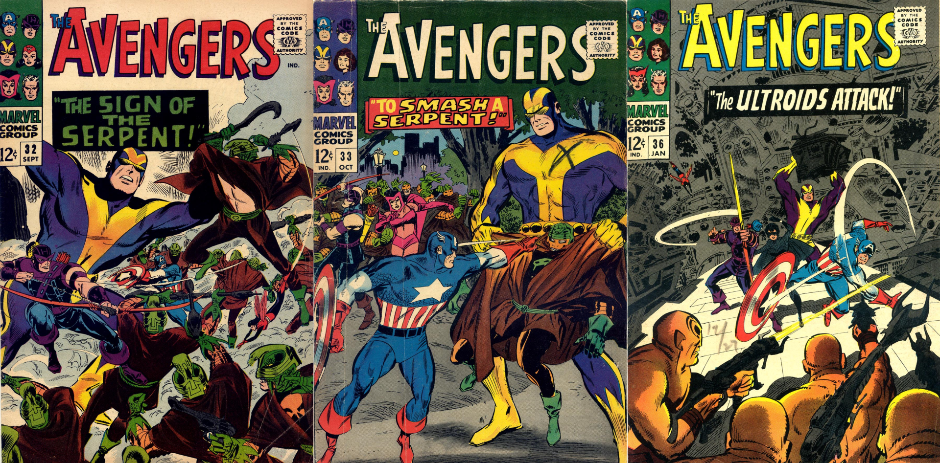 old Avengers Covers.png