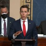 josh hawley mitt romney 150x150 Sedition caucus facing mounting calls to resign after voting against Bidens election win
